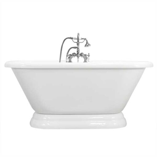 Double ended Pedestal tub with gooseneck faucet package canada
