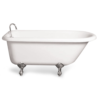 Traditional vintage claw foot tub and Gooseneck faucet
