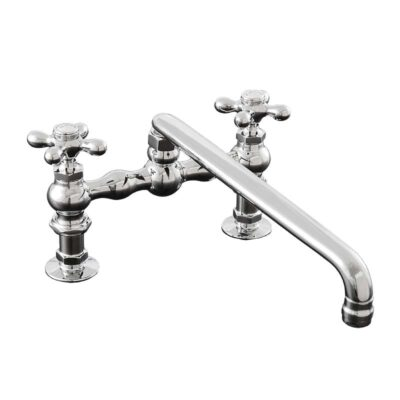 Deck Mount Kitchen Faucet with 12 inch Swivel Spout – P0831