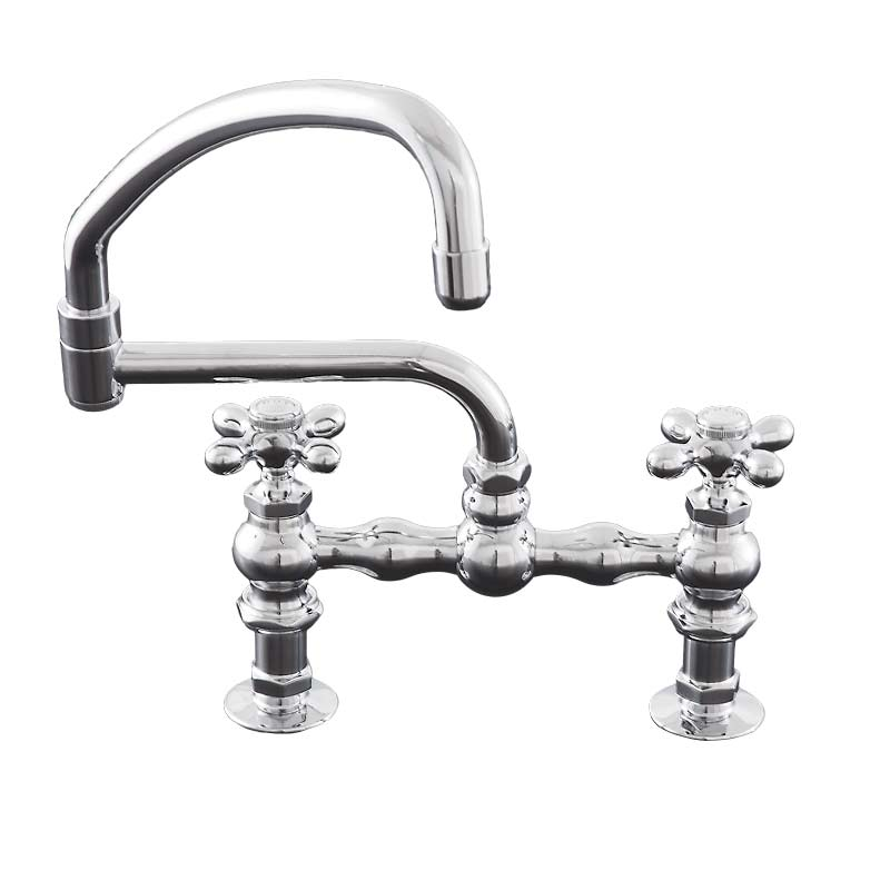Deck Mount Kitchen Faucet With Swivel Pot Filler Spout