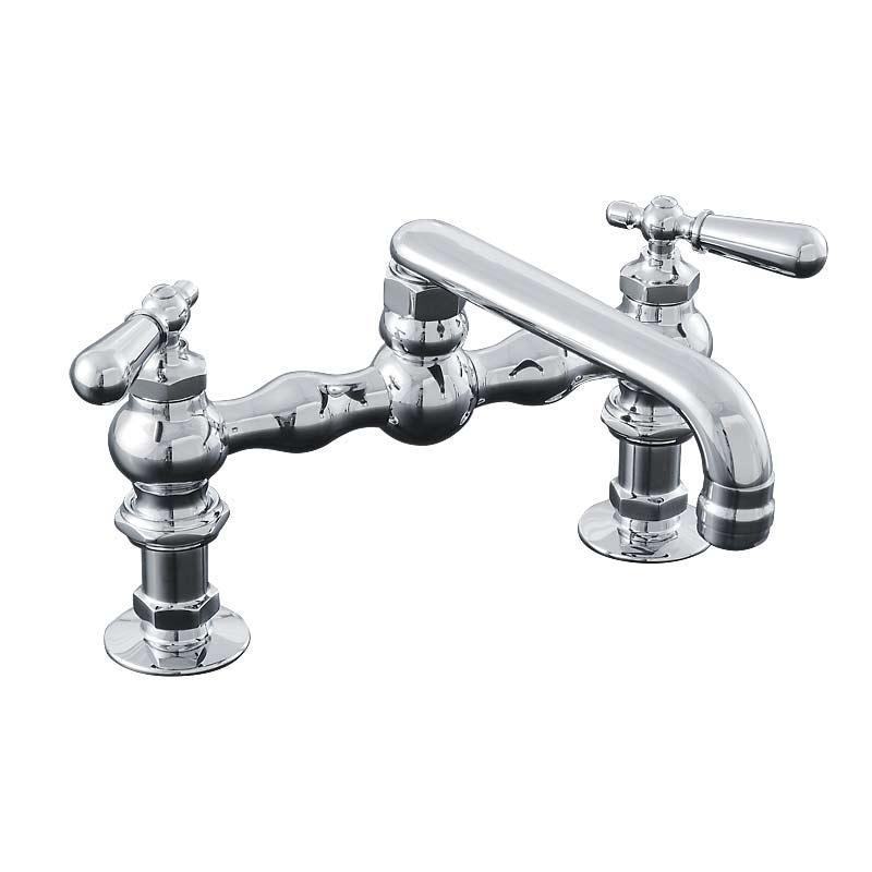 Deck Mount Kitchen Faucet with 6 inch Swivel Spout P0832