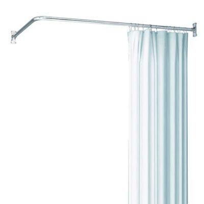 L shaped shower rod