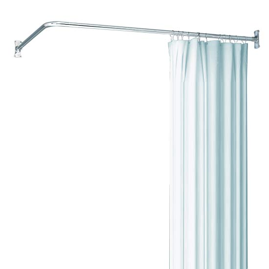 L Shaped Shower Rod Package The Loo