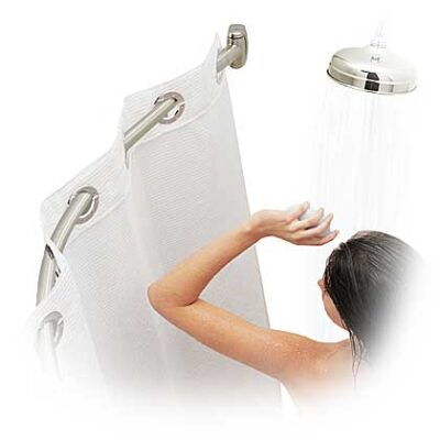 Stainless steel chrome curved shower curtain rod