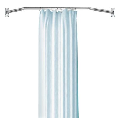corner shower curtain rods canada shower rods zenna home 36602ss 44u0026quot to 72u0026quot