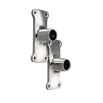 chrome shower rod wall flanges