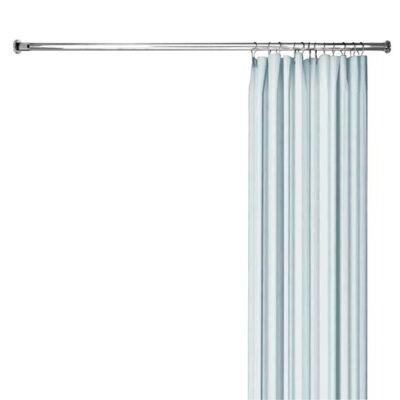 straight shower rod with compression wall brackets