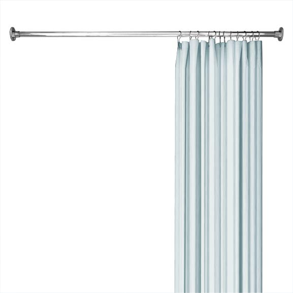 straight shower rod in chrome