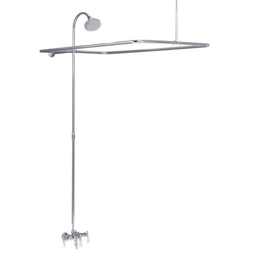 spigot style clawfoot tub shower kit