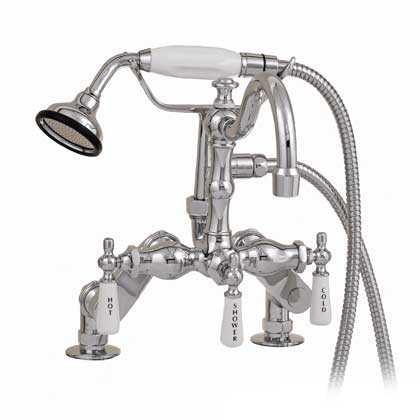 Chrome arched neck claw tub faucet