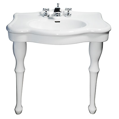 Porcelain Console Sink And Faucet Package P0710 Kn376c