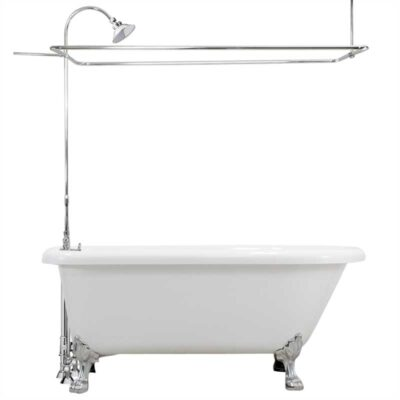 classic claw foot tub with shower