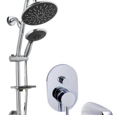 Pressure balanced control with shower bar