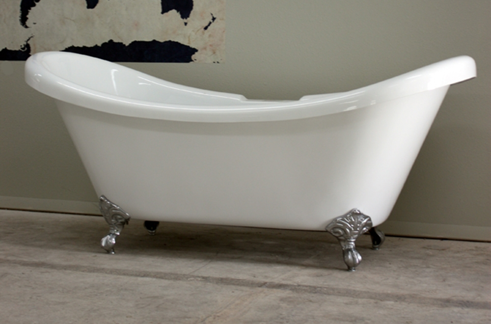 Acrylic Double Slipper Clawfoot Tub | The Loo Store