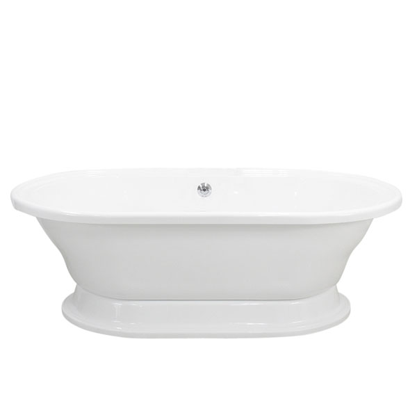 Double ended extra wide pedestal tub the loo store for Wide tub