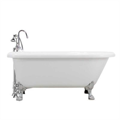 Classic claw tub with gooseneck faucet package