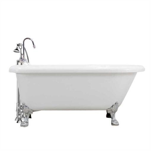 Classic claw tub with gooseneck faucet package canada
