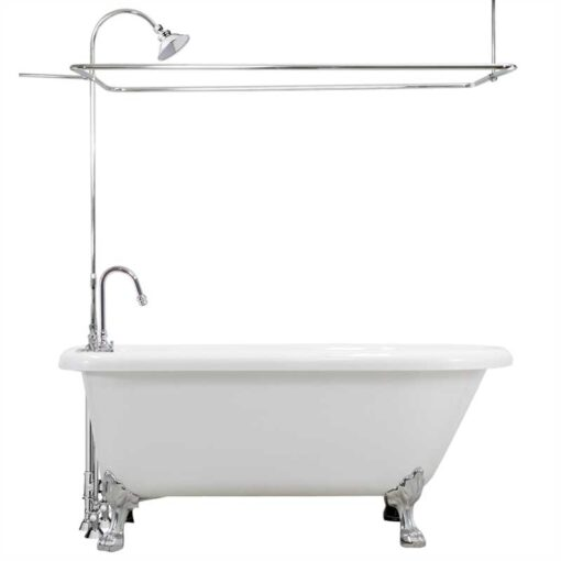 Classic Acrylic Claw Tub with Shower