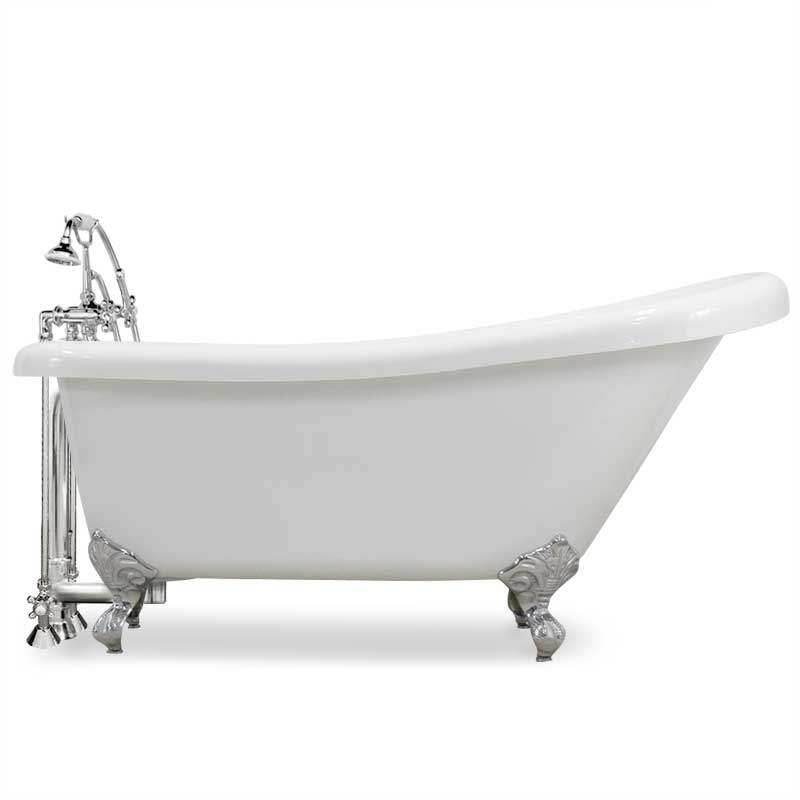 acrylic clawfoot tub package. Acrylic Slipper Claw Tub Pkg  CSLC 146 Premium Clawfoot Packages L The Loo Store