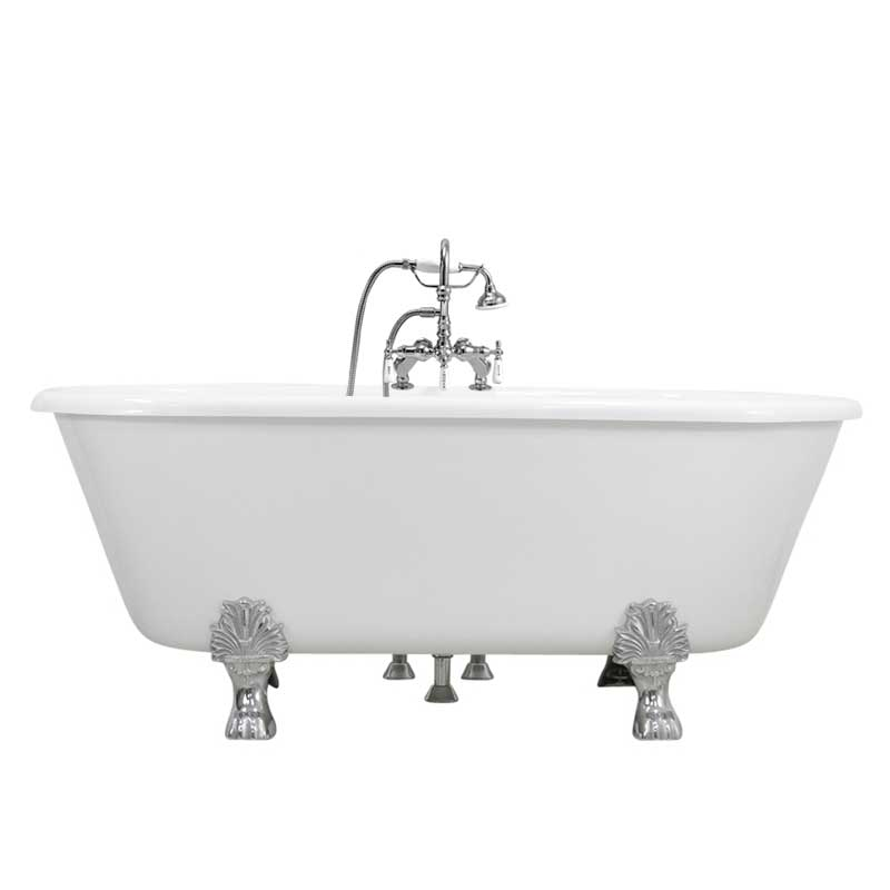 Double ended claw tub with Gooseneck faucet canada