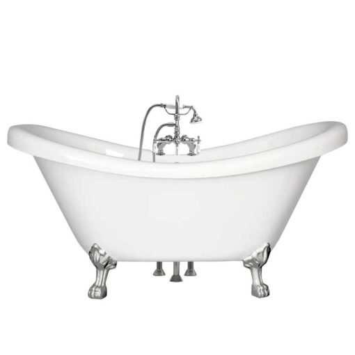 Double slipper tub with gooseneck faucet package canada
