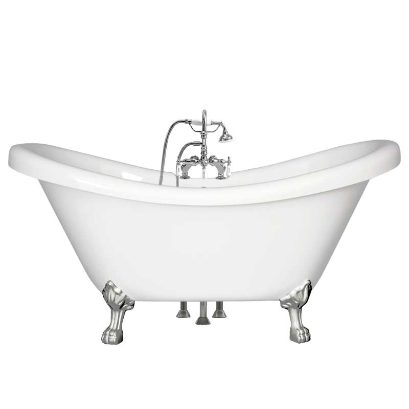 acrylic clawfoot tub package. Double Slipper Acrylic Claw Tub Pkg  CDSC 402 Premium Clawfoot Packages L The Loo Store
