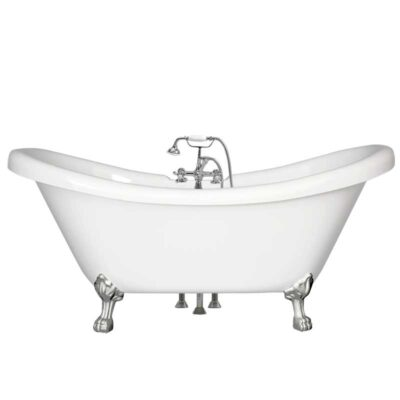 Double slipper tub with elephant trunk faucet package Canada