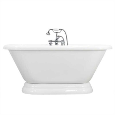 double ended pedestal tub complete package