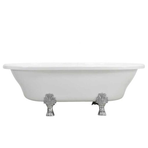 extra wide double ended clawfoot tub canada