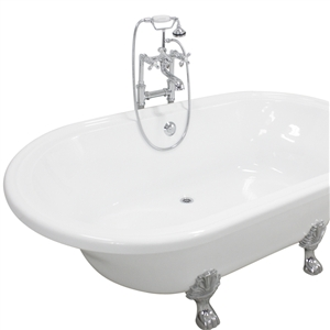 Acrylic double ended extra wide claw tub the loo store for How wide is a tub