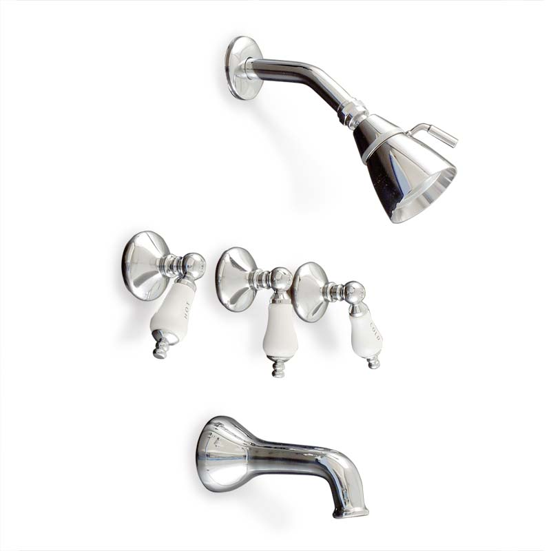 Sacramento Tub and shower set chrome