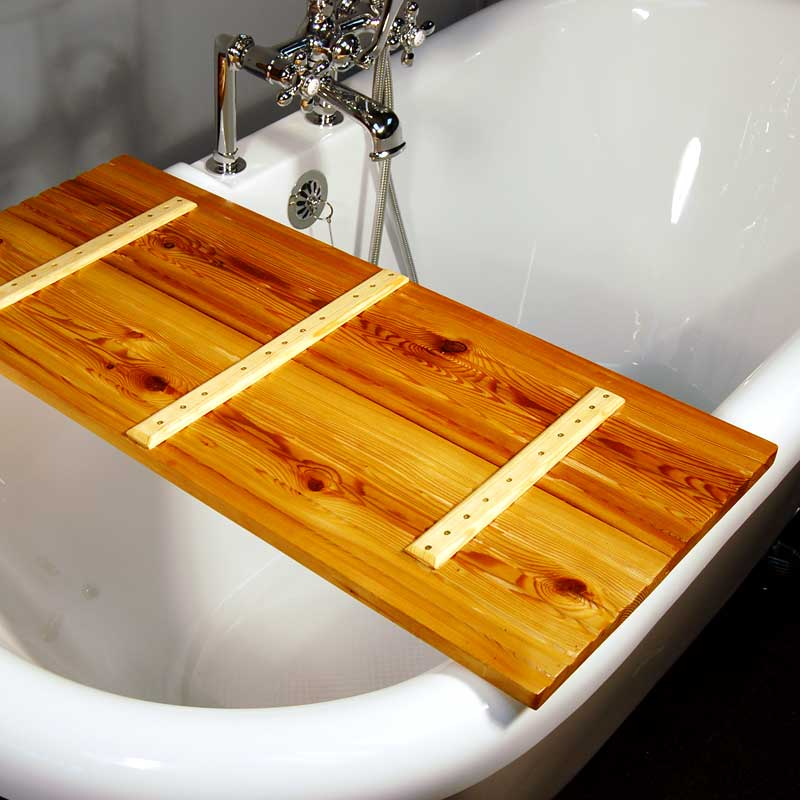 Wooden Tub Caddy Natural Tamarack The Loo Store