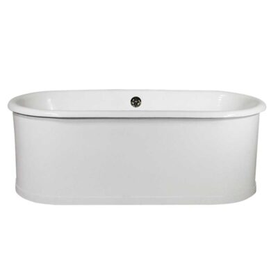double ended cast iron skirted tub