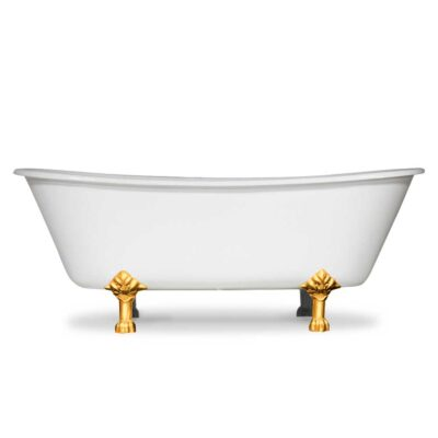 French Bateau Slipper tub with gold feet