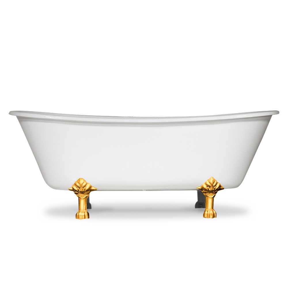 French Bateau Cast Iron Tub Clawfoot Tubs And Faucets The Loo Store