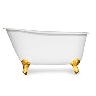 Swedish Slipper Cast Iron tub with gold feet clawfoot tub canada